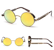 Steam Punk  Mirrored 100% UV400 Round Sunglasses