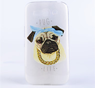 modello del cane coperture del telefono rilievo dipinto materiale TPU trasparente per Alcatel One Touch pop c9