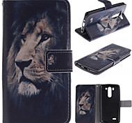 LG G3 Mini PU Leather Full Body Cases / Cases with Stand Graphic case cover