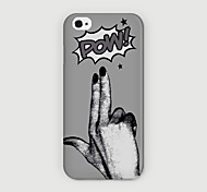 Pow Cool Word Pattern PC Phone Case Back Cover for iPhone 6 Case