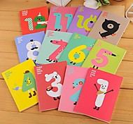 Cute Lucky Numbers Cover Notebook (Random Color)