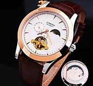 nuovo ciclo quadrante vero e proprio orologio da uomo esplosione cinghia di cuoio moda impermeabile meccanico (colori assortiti)