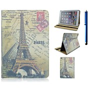 9.7 Inch Eiffel Tower Pattern with Stand Case and Pen for iPad Air 2/iPad 6
