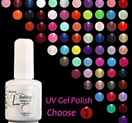 LIBEINE UV Color Gel Nail Polish No.013-024 (15 ml,Assorted Colors)