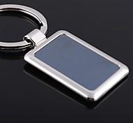 alliage unisexe mode casual porte-clés carrés