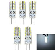 G4 1.5 W 24 SMD 3014 100 LM Natural White Bi-pin Lights DC 12 V