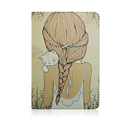 9.7 Inch Girl Pattern with Stand Case and Pen for iPad Air 2/iPad 6