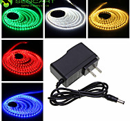 5M 25W 300x3528SMD  Cold White / Warm White LED Strip Lamp + US Power Supply Adapter AC100-240V