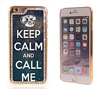 Keep Calm and Call Me Design Luxury Hybrid Bling Glitter Sparkle With Crystal Rhinestone Case for iPhone 6