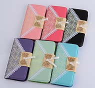 Lace Grain PU Purse Holster for LG G3(Assorted Color)
