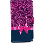 Pour Samsung Galaxy Coque Portefeuille / Porte Carte / Avec Support / Clapet Coque Coque Intégrale Coque Motif Léopard Cuir PU Samsung S6