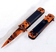Outdoor Survival Folding Orange Tools Knife