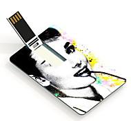 Bela drive flash de 64GB Audrey Hepburn padrão de design de cartão USB
