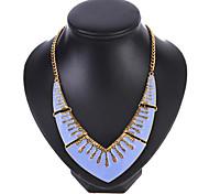 Fashion Short Oil Drop Pendant Necklace