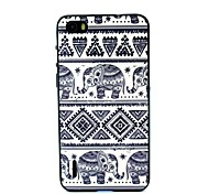 Blue Elephants Pattern Plastic/TPU 2 in 1 Design Back Cover Case for Huawei Honor 6
