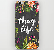 Thug Life Pattern Back Case for iPhone 5/5S