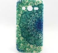 Flowers Pattern TPU Soft Cover for Samsung Galaxy Core 4G G386F/G3518