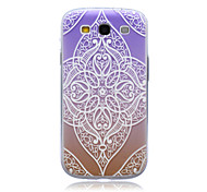 Gradual Change Lace Flowers  Pattern TPU Soft Back Cover Case  for Samsung Galaxy S3 I9300