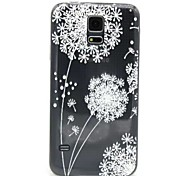 For Samsung Galaxy Case Ultra-thin / Translucent / Embossed Case Back Cover Case Dandelion TPU Samsung S5