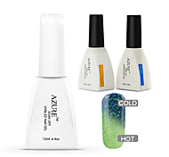 Azure 3 Pcs/Lot Color Changing with Temperature Soak-off Gel Nail Polish Kit(#25+BASE+TOP)