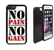 No Pain No Gain Design 2 in 1 Hybrid Armor Full-Body Dual Layer Shock-Protector Slim Case for iPhone 6