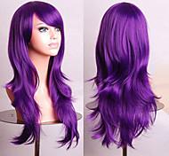 Fashion Color Cartoon Colored Wigs Special Masquerade 70 CM Purple Wig