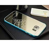 spezielle Konstruktion hochwertiger Normallackmetallstoß Überzug-Spiegel rückseitige Abdeckung für Samsung-S6