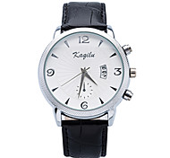 Brand Mens Black Simple Watches 2015 New Fashion Casual with Date display Wristwatch