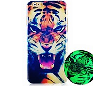 The Tiger Pattern Luminous Hard Back Cover Case for iPhone6
