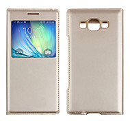 2015 New Luxury View Window Flip Leather Skin Case Cover for Samsung Galaxy A5