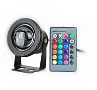10w conduit lampe sous-marine d'inondation imperméable lumière 1000lm avec des lentilles convexes de verre (12-18V) (noir)