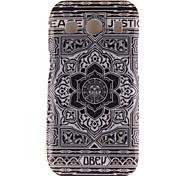 grote zwarte bloem ontwerp TPU zachte hoes voor Samsung Galaxy Ace stijl lte g357 / ace 4 g357fz