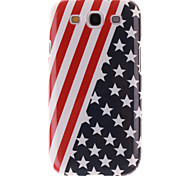 Red Striped Black Star Pattern TPU Soft Cover for Samsung Galaxy S3 I9300
