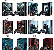 Cute Full Body Decal Stciker Skin for Microsoft Xbox 360E Console+Controllers