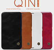 NILLKIN Qin Series Leather Case Turnkey Following Cover Case for Sony Xperia E4