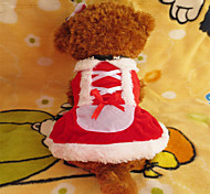 Holdhoney Red Christmas Dresses For Pets Dogs (Assorted Sizes) #LT15050056