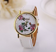 New  Arrival women   Rose  Watch Lady dress Watches Gold Plated Watches For Women Clock Female Leather