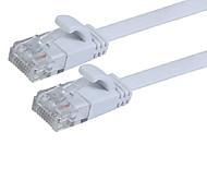 1m / 3ft J45 cat 6a cat 6 Flach UTP-Ethernet-Netzwerkkabel mit RJ45-Patchverlängerungskabel