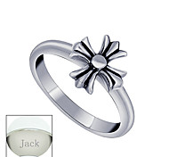 Personalized Father's Day Gift Jewelry Titanium Steel Silver  Cross Women's Ring