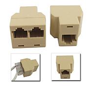 6 RJ45 CAT5-Ethernet-Kabel LAN-Port 1 bis 2-Splitter Steckeradapter