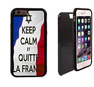 Keep Calm Et Quite La France Design 2 in 1 Hybrid Armor Full-Body Dual Layer Shock-Protector Slim Case for iPhone 6 plus