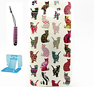 Cat  Pattern TPU Case Soft Cell Phone Cases  for Samsung Galaxy Alpha/G5308