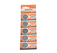 COMSAN CR2016 3V High Capacity Lithium Button Cell Batteries (5PCS)