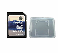 Original Kingston Digital 32GB Class 4 SD Memory Card And The Memory Card Box