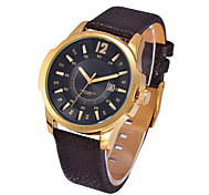Men's Rectangle Dial Case Leather Watch Brand Fashion Quartz Wrist Watch(More Color Available)