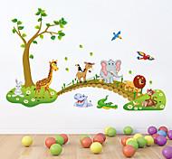 стены стикеры стены наклейки стиль прекрасный лес наклейки животное ПВХ стены