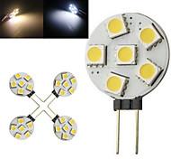 3W G4 2-pins LED-lampen 6 SMD 5050 100-150 lm Warm wit / Koel wit AC 220-240 V 10 stuks