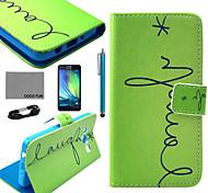 estojo de couro pu Coco padrão da coruja fun® dormir com filme e cabo USB e caneta para Samsung Galaxy a3