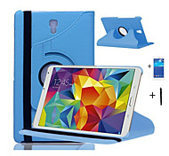 "Rotating 360 degrees PU Leather Case Stand Cover For Samsung Galaxy Tab S 8.4"" T700 Tablet +stylus pen+membrane"