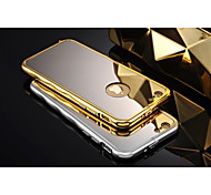 Hollow Back Luxury Streamline Metal Frame Acrylic Mirror Plate Metal Hard Case for iPhone 6